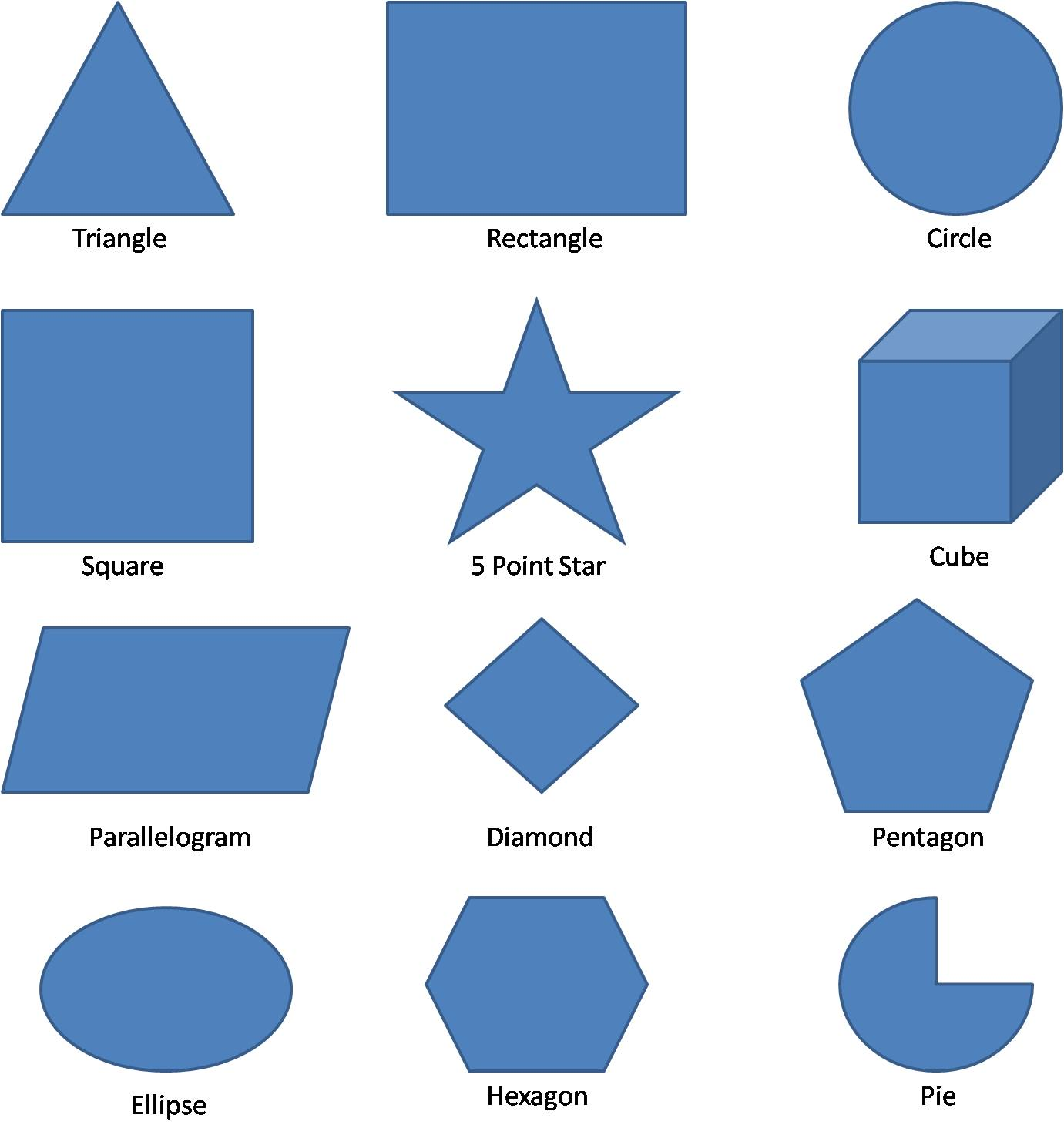 Figurine clipart geometric shape Clip Shapes Clipart on Library