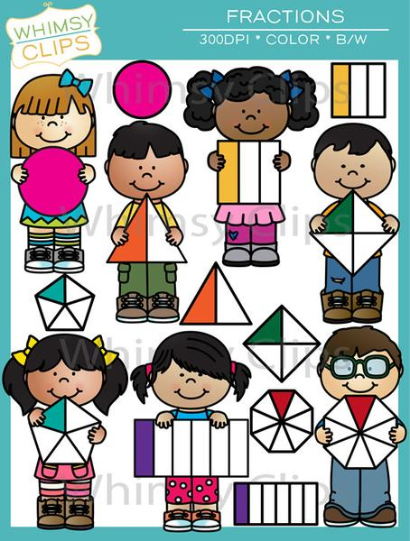 Pentagon clipart fraction With & Clip Fraction Shapes