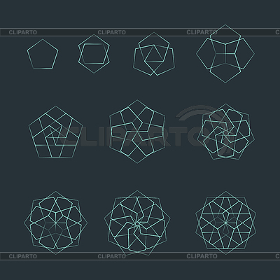 Pentagon clipart geometry Clipart Photos sacred isolated outline