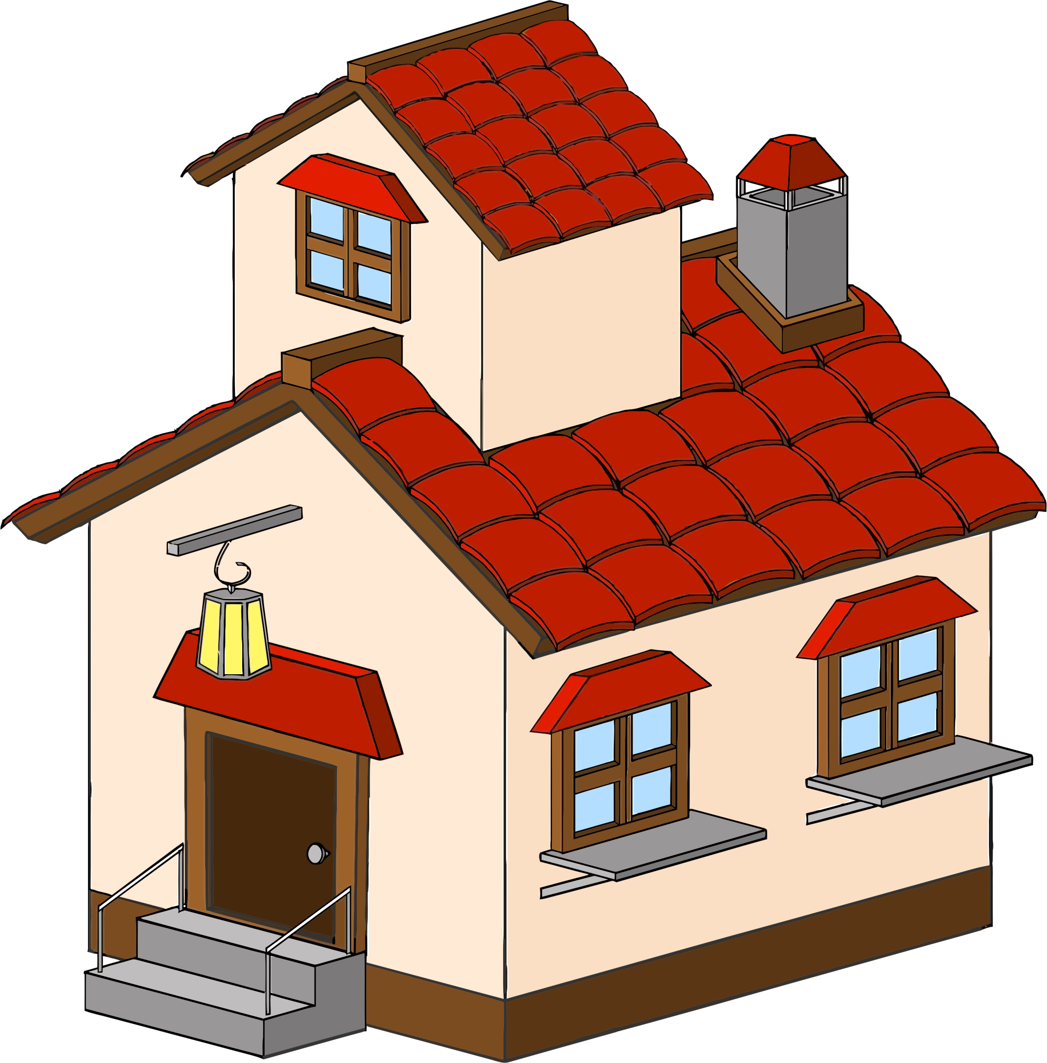 Hosue clipart big house Images Clipartwork House #670 Simple