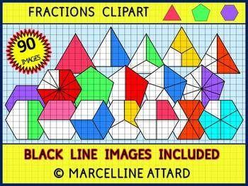 Pentagon clipart math Art images Fractions best Pinterest