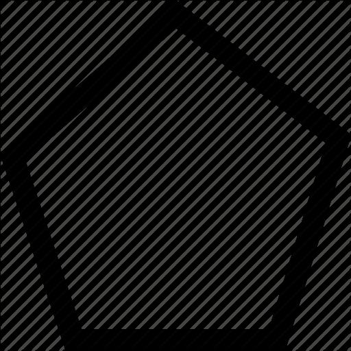 Pentagon clipart object Search pentagon icon shape Form