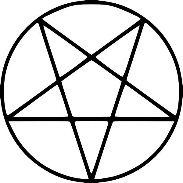 Pentagram clipart Vector clip svg art art