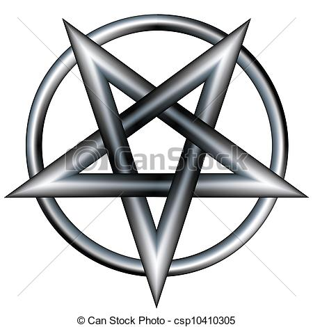 Pentagram clipart Circle clipart Pentagram Vector pentagram