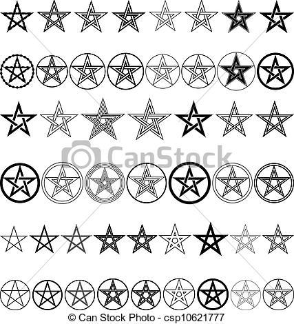 Pentagram clipart drawing  vector of Vector of