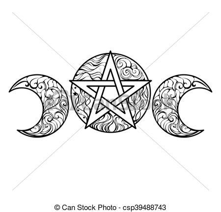 Pentagram clipart drawing Pentagram pentagram elements line Vector
