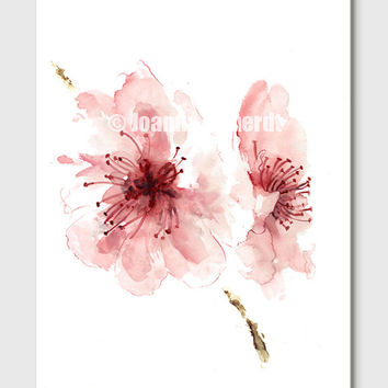 Peony clipart abstract watercolor Wanelo Watercolor Clipart Cherry pink