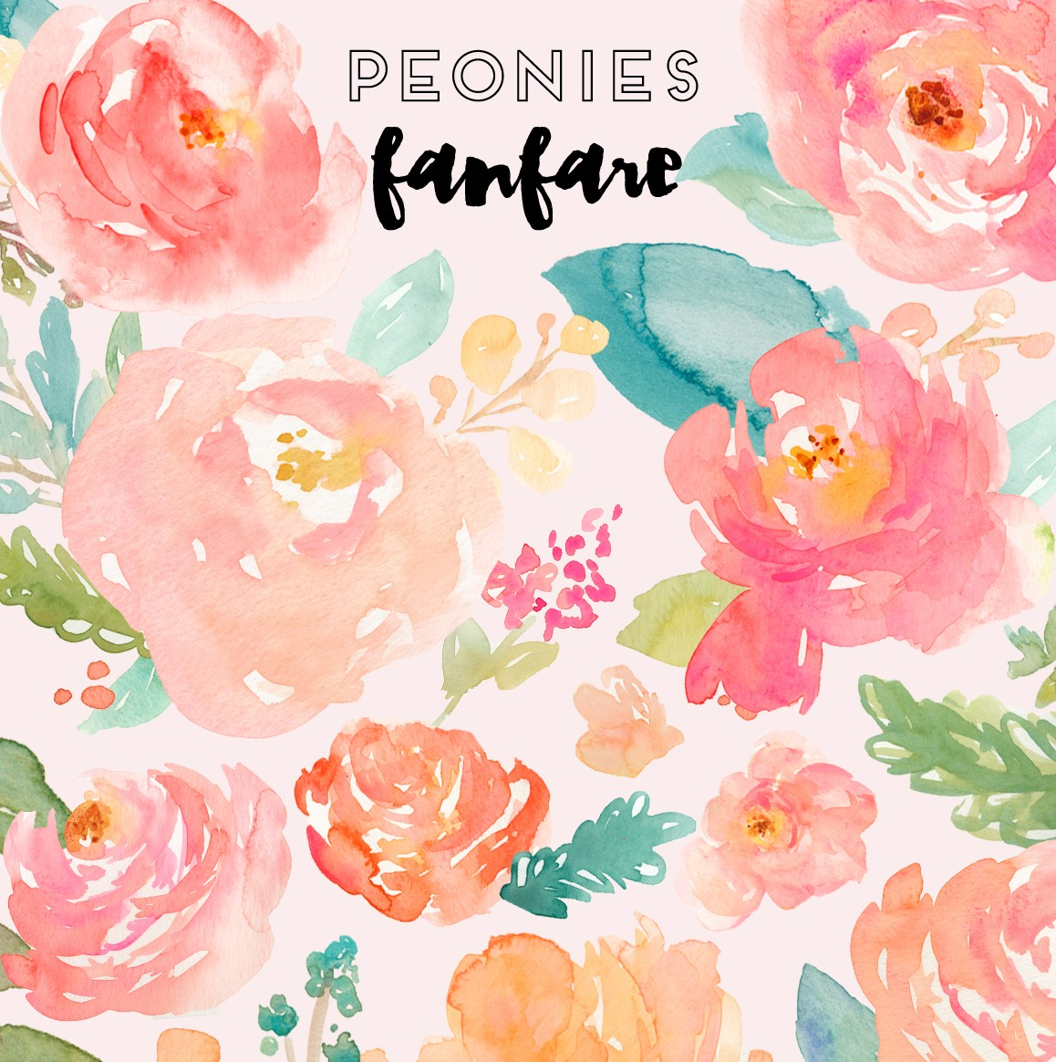 Paint clipart watercolor paint Peonies Archives Clip – Makes
