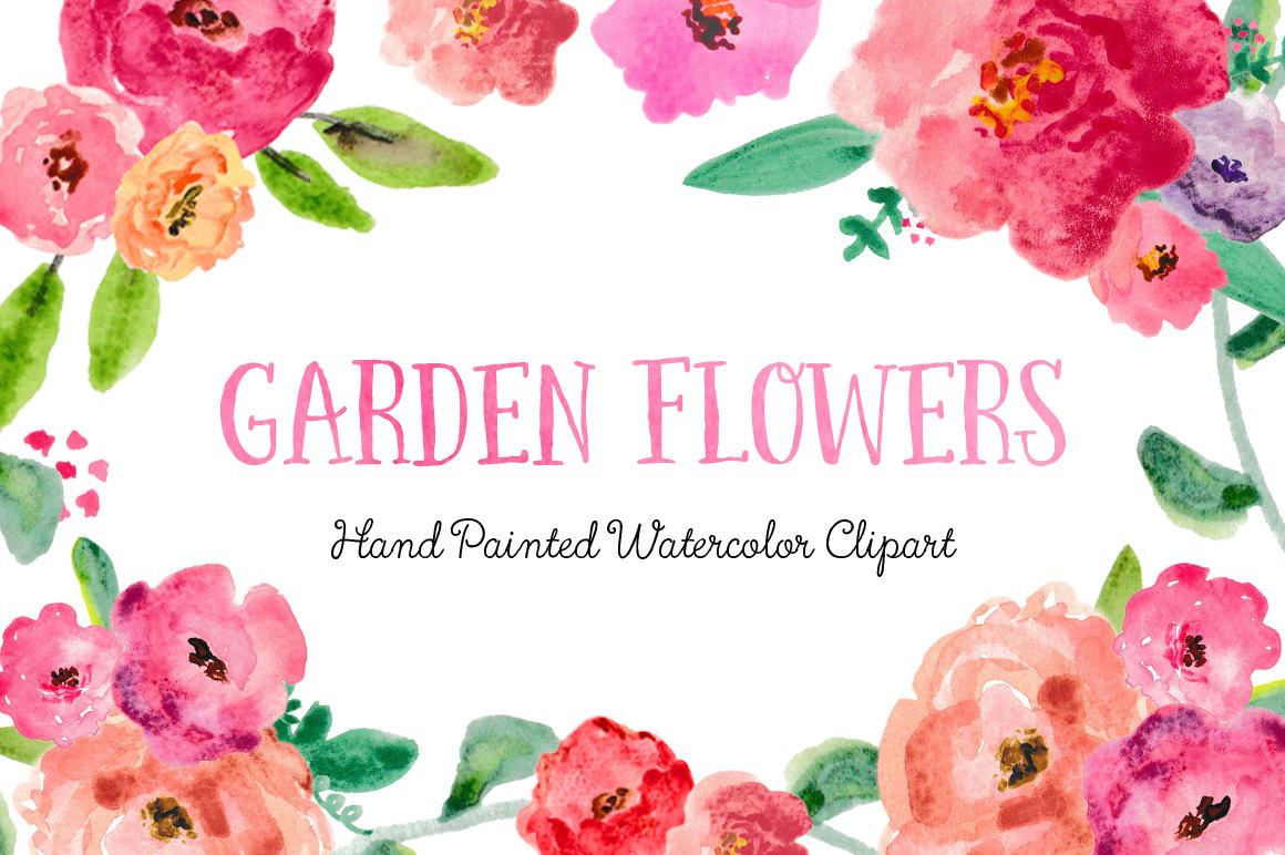 Ranuncula clipart pastel flower Garden posy Flowers Use Hand
