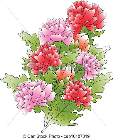 Peony clipart flower bunches Vector green csp10187319 bunch bunch