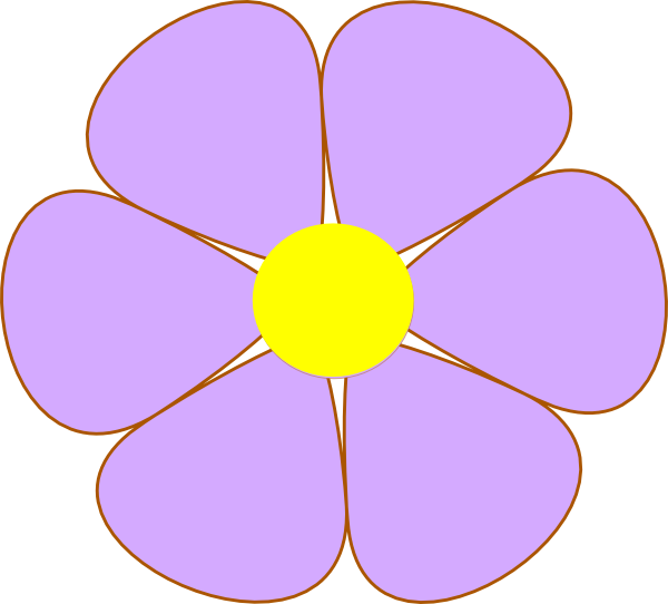Yellow Flower clipart purple flower Clipart cliparts Purple Peony Peony