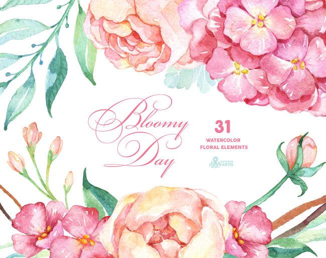 Peony clipart watercolor flower FlowersWatercolor Popular on  Popular