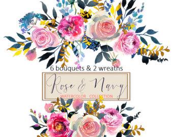 Peach Flower clipart floral wedding Floral Flowers Digital Peonies White