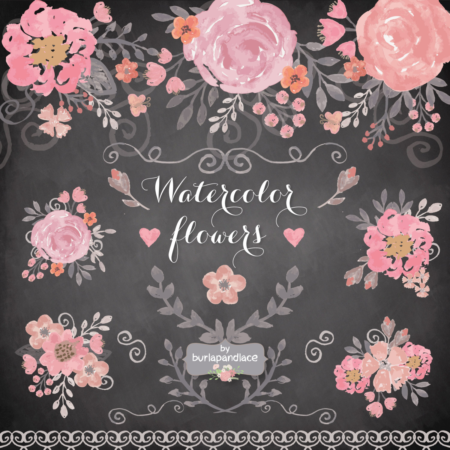 Peony clipart wedding invitation #14