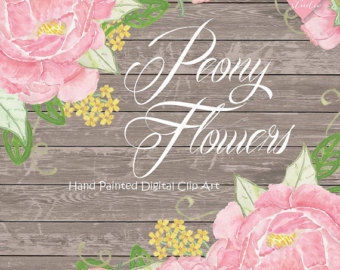 Peony clipart wedding invitation #9