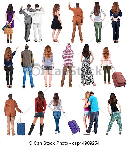 People clipart back In Back Photo people of