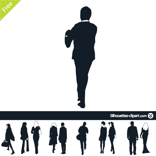 People clipart back View vector vector clipart