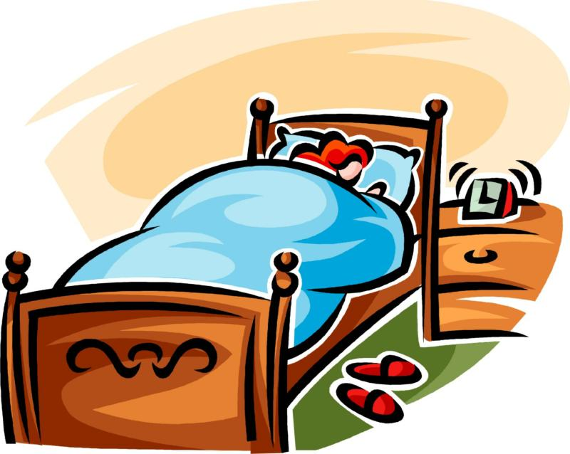 Bed clipart sleepy person People People  Sleeping Clipart