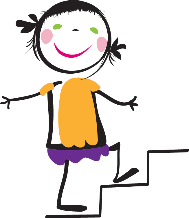 Woman clipart climbing stair Walking Kids Back  For