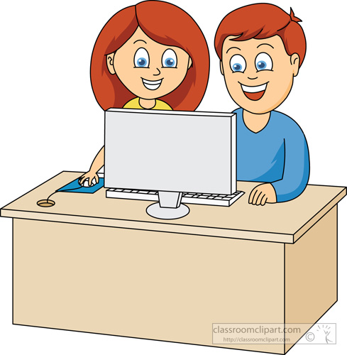 People clipart dizzy Kids computers clipart Children collection