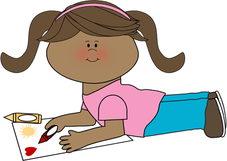 Crayon clipart coloring Coloring Art Clip Girl Images
