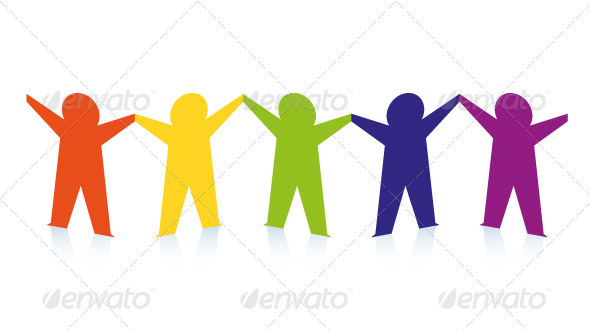 People clipart cut out Abstract Colorful Colorful Paper people