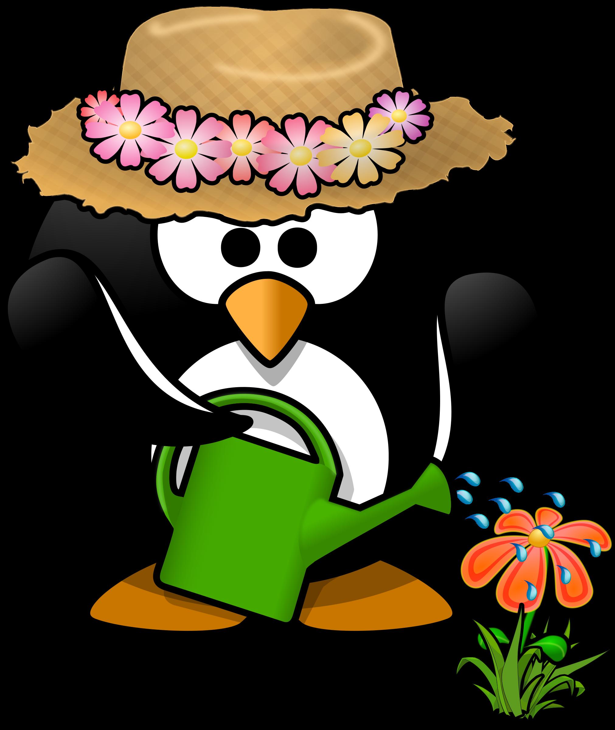 Penguin clipart spring Working garden Microsoft a Zone