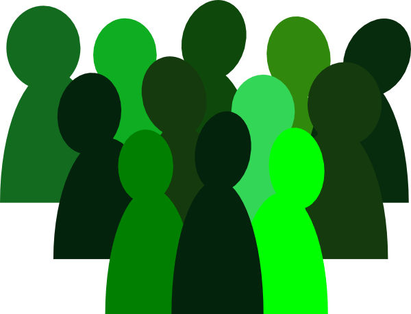 Crowd clipart small Art Clip people Crowds clipart