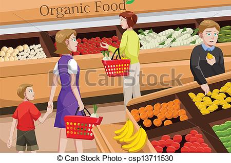 People clipart grocery shopping Vector food for People of