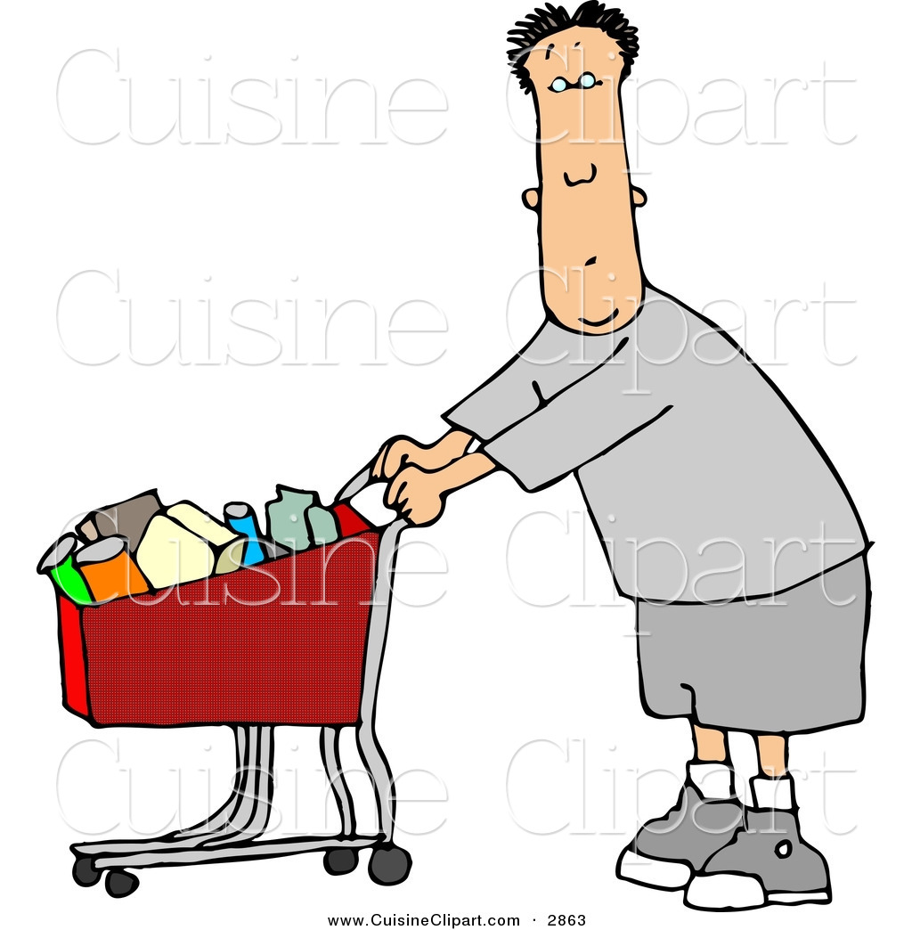 People clipart grocery shopping Free Store a Food with