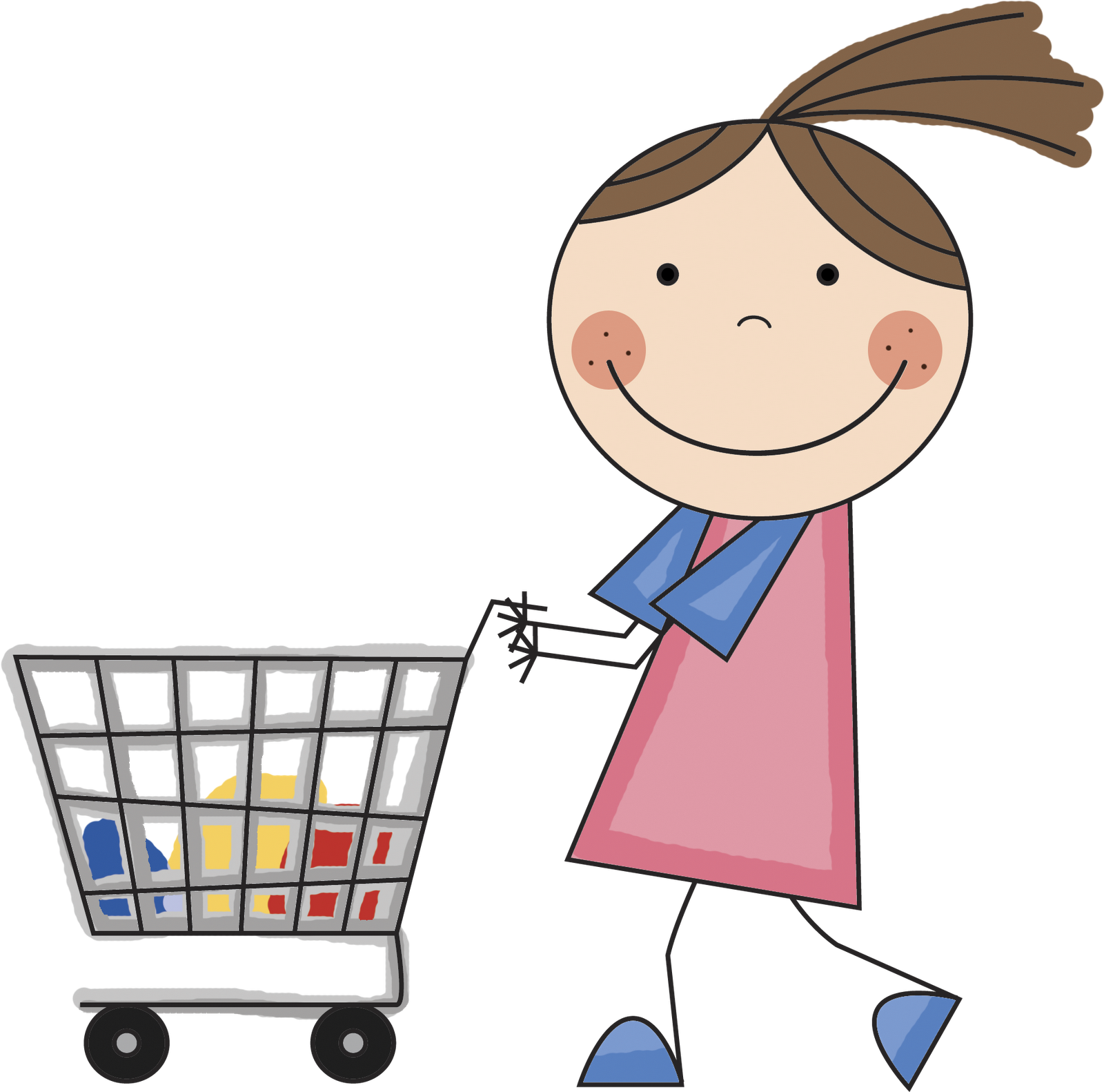 People clipart grocery shopping Cliparts Shopping Shopping Image People