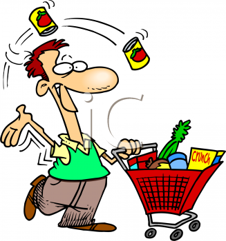 People clipart grocery shopping The products people 700484 clipart