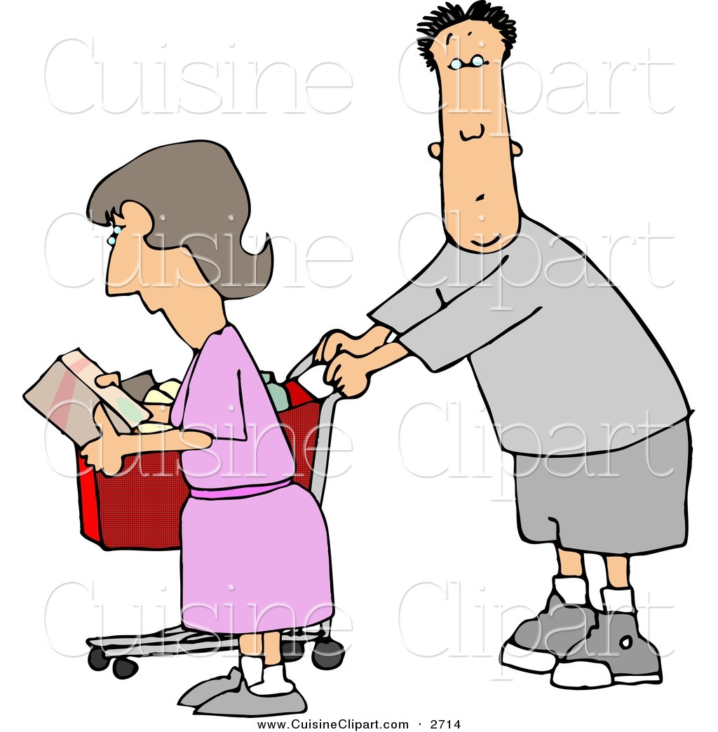 People clipart grocery shopping Designs Stock Free Royalty Grocery