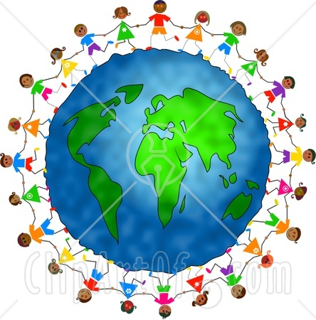 People clipart holding hand Globe around hand Holding collection