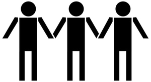 People clipart holding hand Clipart side together Image and