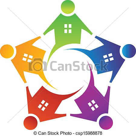People clipart house House Vector of People Vectors