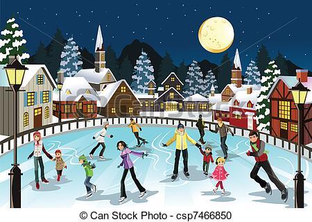 People clipart ice skating  of skating csp7466850 People