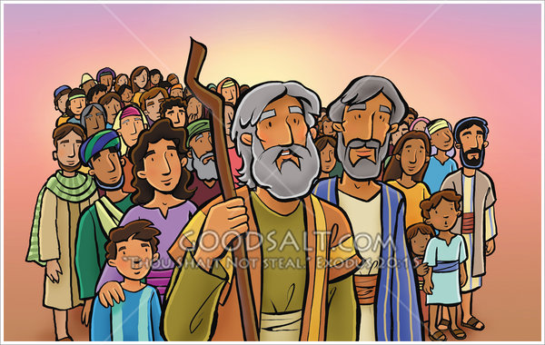 People clipart israelites Moses the  People Leads