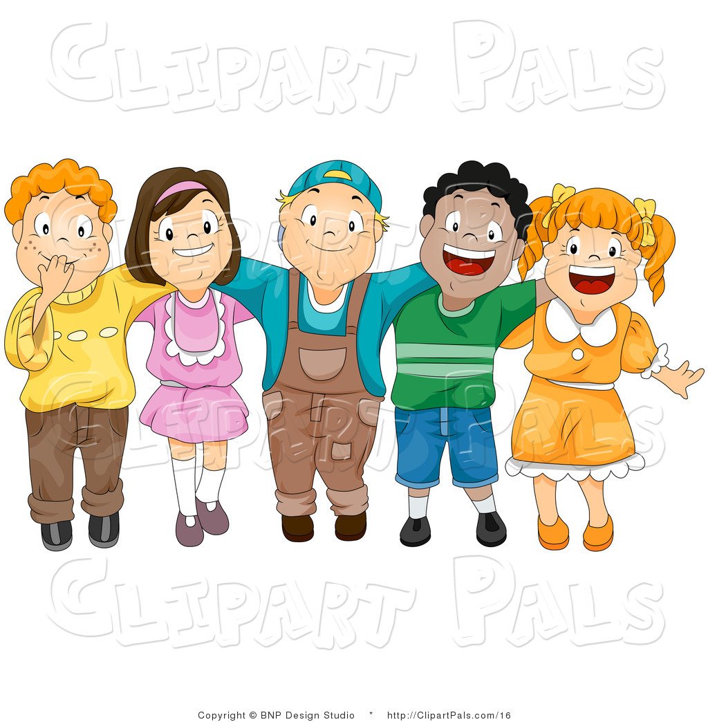 Other clipart friendship Collection #458 Clipart Crowd kids