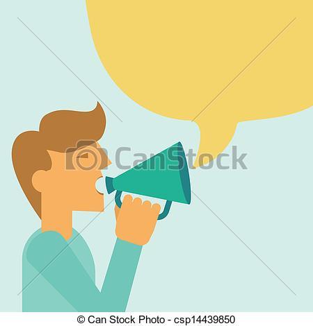 People clipart loudspeaker Man of Vector man of