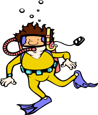 People clipart scuba diving Surfing Skiing Scuba Clipart style