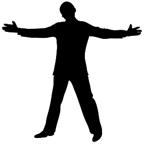 People clipart silhouette Gesture clipart People of open