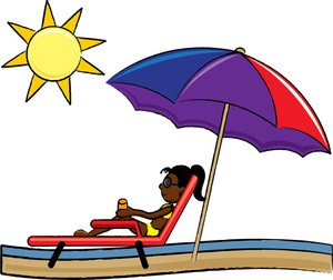 Vacation clipart sunny beach People at Vacation Clipart Beach