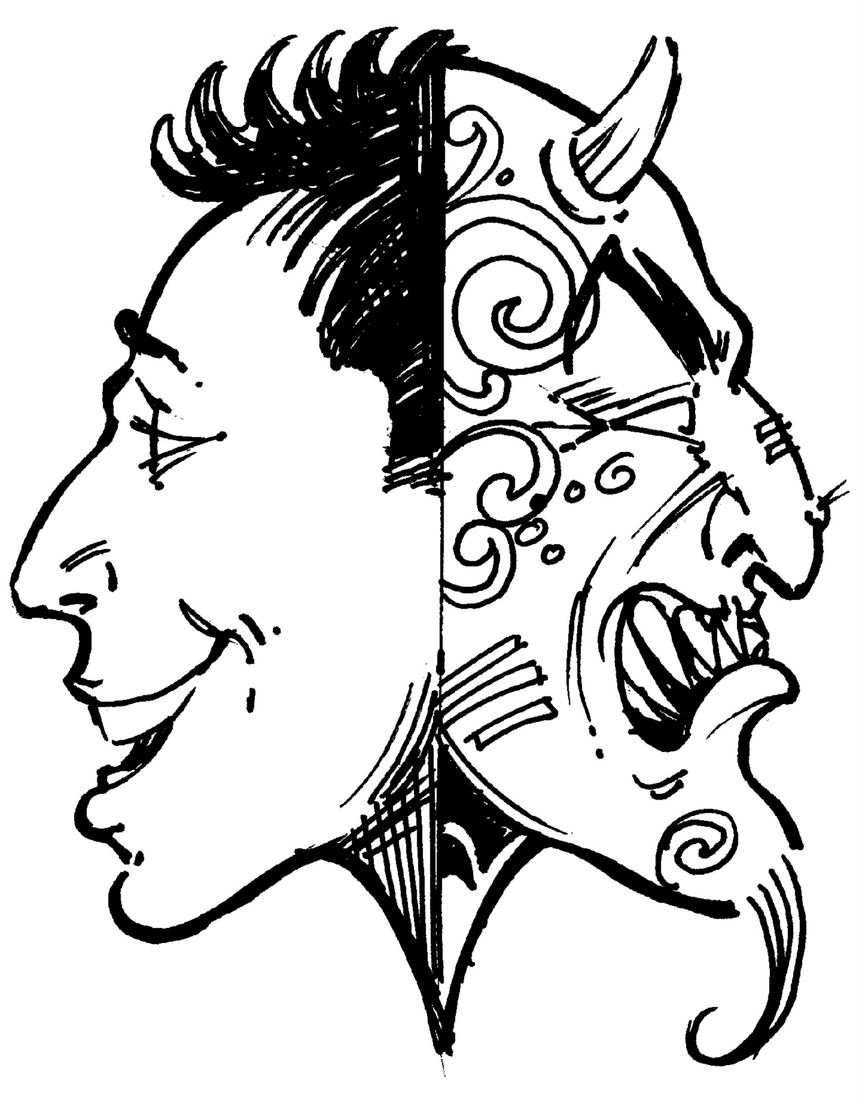 People clipart two faced Two collection 0000 clipart people