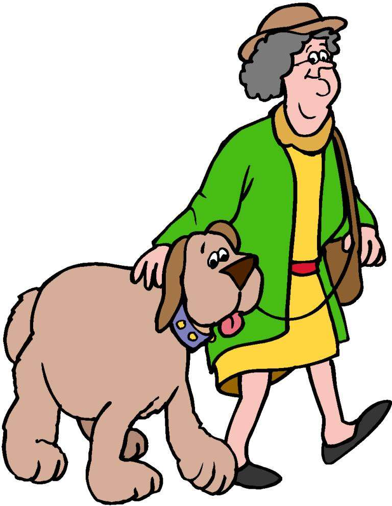 Boy clipart walking dog The and Clip Animated Free