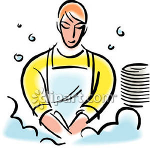 People clipart washing dish Dishes Clipart People Washing Bay