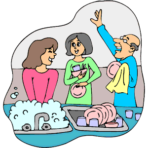 People clipart washing dish Wash clipart collection online Dishes