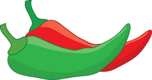 Red clipart green chili #1