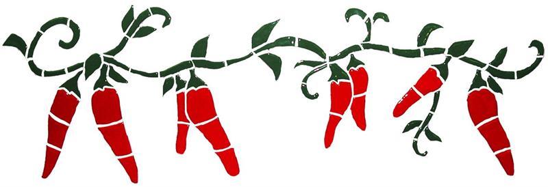 Wreath clipart chili pepper Free Chili pepper borders chili