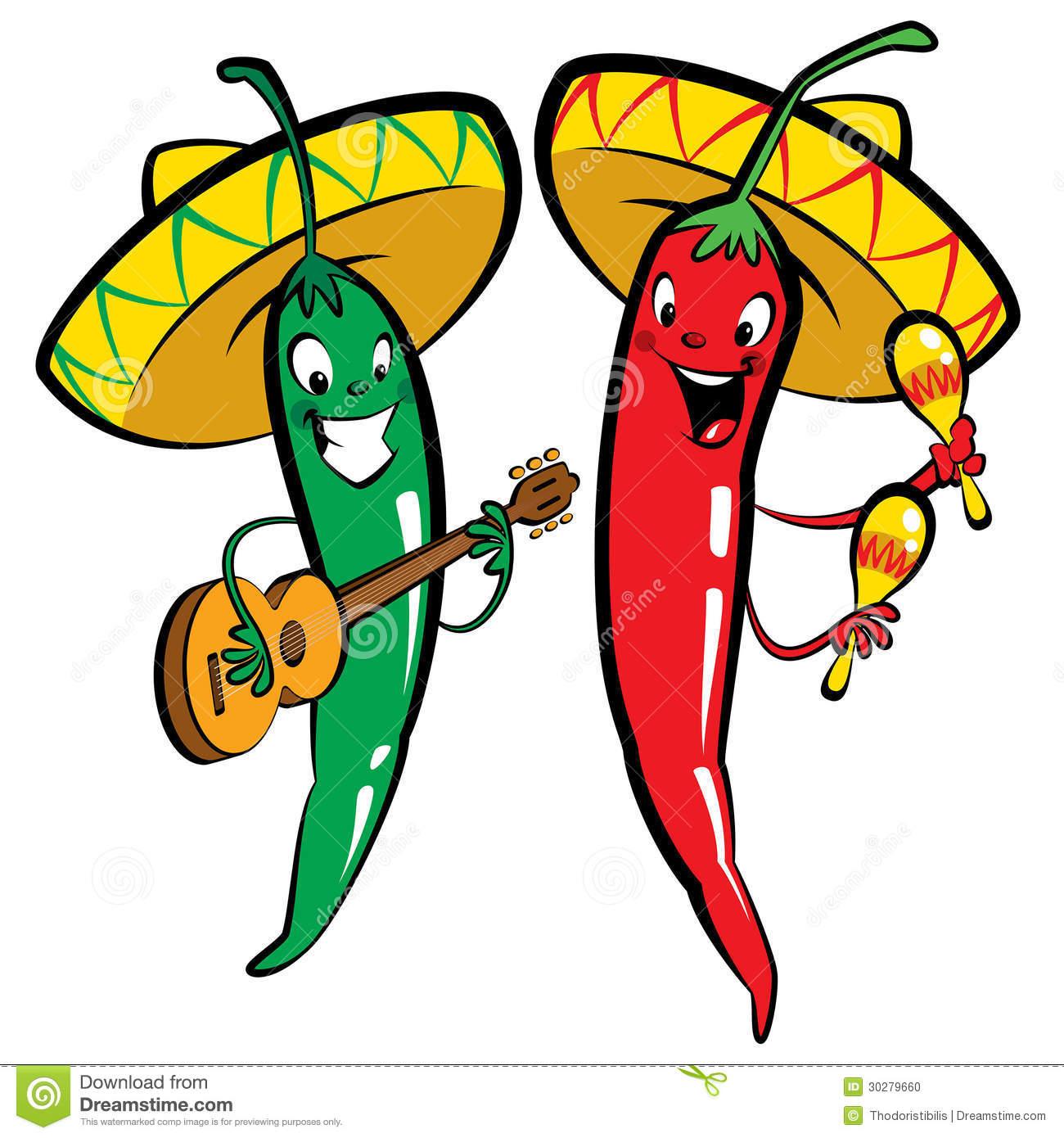 Chili clipart green capsicum  Cartoon chili Cartoon peppers